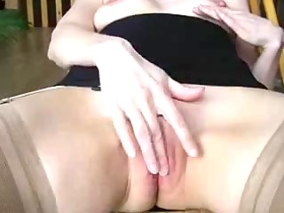 masturbation and spunk fountain on firm titty