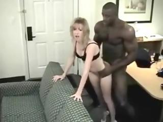 little blond girl likes her brawny darksome fellow