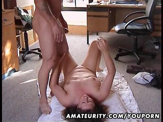 heavy young lady banged on the floor