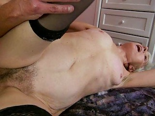 granny likes horny fuck with young man