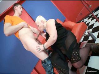 slutty blond milf nurse lucia blows