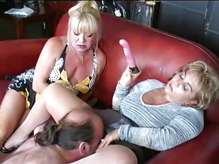 two matures vibrator and dominate male