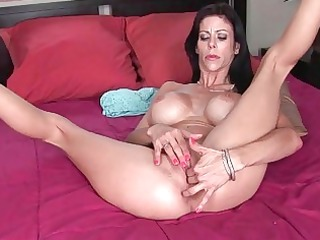 horny huge breasted chick whore pushing dildo