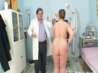 grown-up chick examined at the doctors