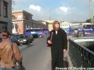 russian milf gets pierced by stranger