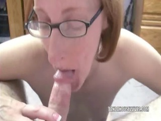 ginger layla sucking some balls and a inflexible
