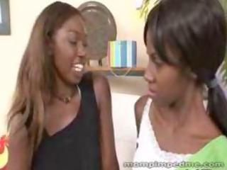 brown woman seduces inexperienced