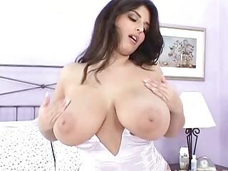 seductive brunette milf masturbates into sexy