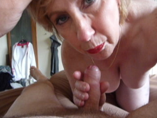 older karen cock sucking and facial white cream