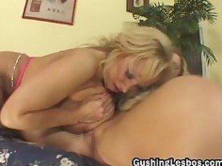 mature lesbo bitch obtains pierced with dildo