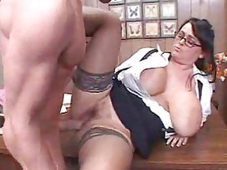 cougar professor with huge boobs
