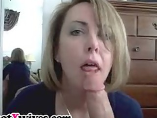 extremely impressive milf licks large dick and