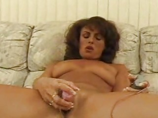 cougar girl toying bushy cave