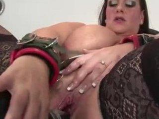 bbw woman gets dildo pierced