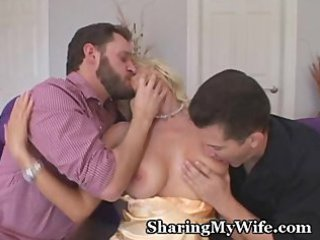 hot housewife controls her drill slaves