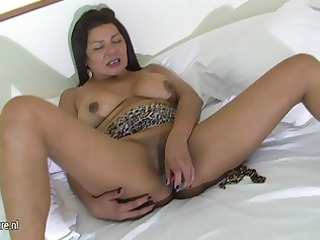 busty elderly mother masturbating with her kitty