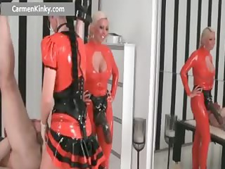 two desperate big breasted latex horny woman part4