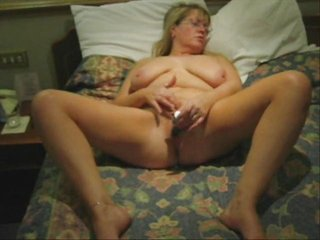 awesome masturbation of my mature bitch. house