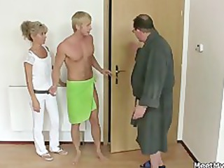 his angel and dad tricks her into porn
