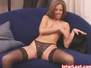 awesome maiden into sweet g-string and nylons