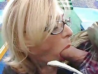 titty cougar slut takes desperate libido into her