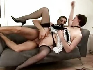 older maid acquires spanked by man