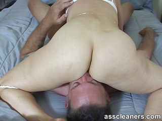naughty milf demands for ass licking during she