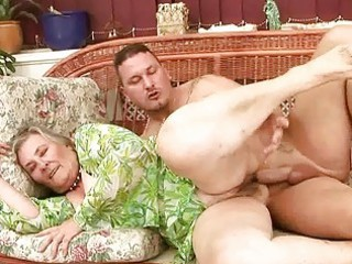 extremely elderly busty granny pleasing awesome
