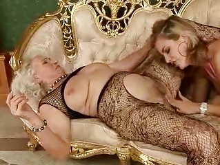granny and loveliness having lesbian fun