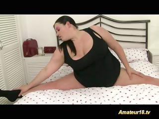 flexible fatty gets fucked fuck