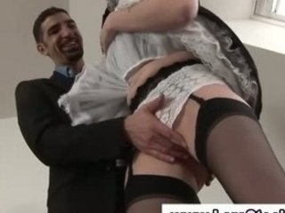 mature british angel into nylons gets fingered by