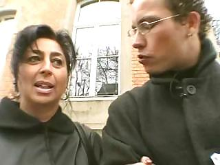 amateur man seduce a horny mom inside the street