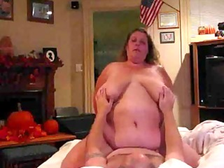 large chest bbw rides cock