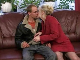 old gang-banging with her inexperienced fucker