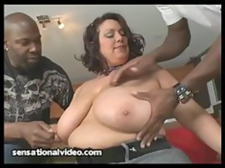latino maiden gets dped by two large black penises