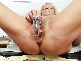 extremely impressive pale granny whore gets her