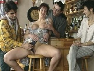 giant titted cougar pierced in a bar