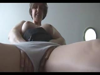 elderly likes with her mega giant boobs