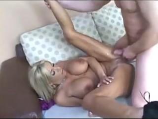 blonde girl acquiring a creampie