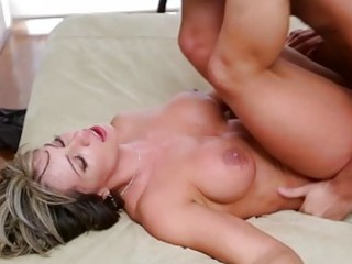 giant boob lady drilled strong