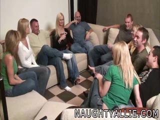 gathering game leads to a huge group sex swinger