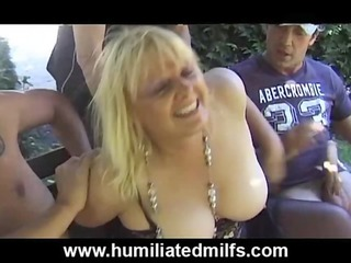 older gilf whore takes pissed on