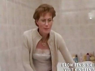 horny grandma peeing and shaving,.,..
