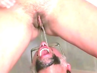 grandpa and fresh drilling and pissing