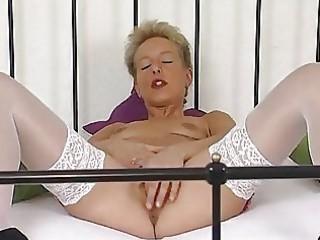 grownup german bleached pushing dildo