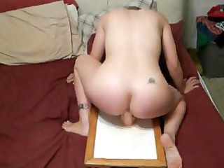 lady driving sex toy uneasy