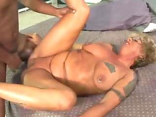 gang-banged tits tattoo elderly into pantyhose