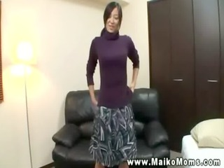 slutty oriental grown-up is pleasing camera