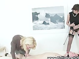 elderly enjoy femdoms suck off loser
