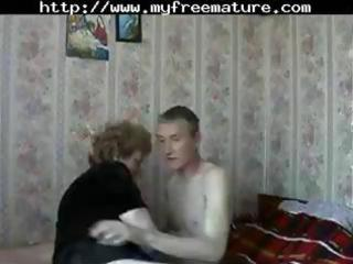 cougar russian lady acquires a amateur lover to